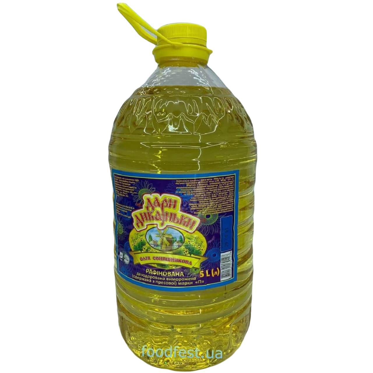 Соняшникова олія ТМ (Дари Диканьки) рафінована 5л
