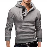 Мужская толстовка СС-5912-10 серый, XXL