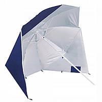 Оригінальна компактна пляжна парасолька тент від сонця складана з клапаном і нахилом 2 в 1 Springos XXL BU0015