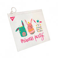 Папка-конверт В6 на блискавці Princess party, Yes
