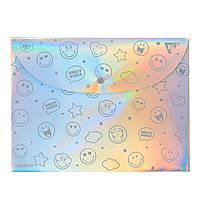 Папка-конверт на кнопці А4 Smiley World, Yes