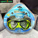 Маска для плавания детская Dolvor M226JR желтый, фото 3