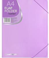 Папка А4 на гумці -PASTEL - фіолетова CoolPack