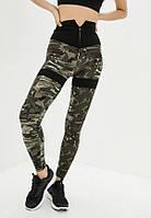 Спортивные женские лосины для тренировок Twinsber Zipper Army Leggings размер XS