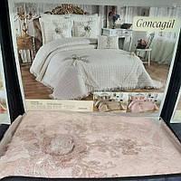 Королевское покрывало для спальни Goncagul Alceyiz с наволочками (260*270) розовое