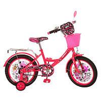 Велосипед PROFI детский 16 д. (арт.PM1651G) Monster Girl, малиновый