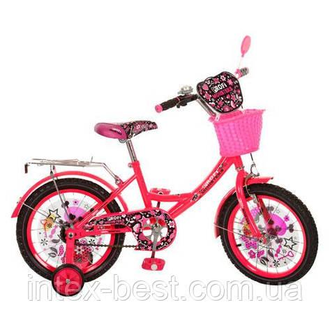 Велосипед PROFI детский 16 д. (арт.PM1651G) Monster Girl, малиновый, фото 2