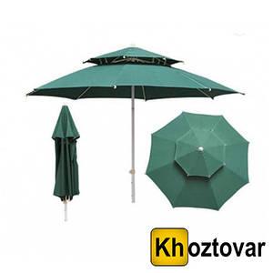 Вітрозахисний парасолю з двома куполами | 2.7 м