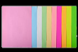 Набор цветной бумаги для печати 80г / м2, BUROMAX, PASTEL+NEON