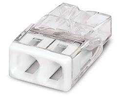 Клема 2-конт д/розпод коробок, підключ.люстр, світильн, 0,5-6мм2,  прозора WAGO