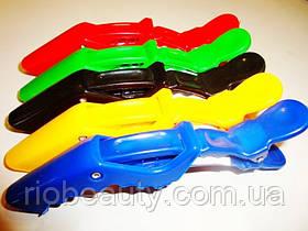 Зажим-крокодил ДенІС пластик цветной 5шт/уп