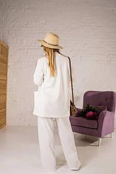 """Жіночий прогулянковий костюм """" Ронда """", тканина трикотаж рубчик , р-р 44\46, 48\50,, молочний"""