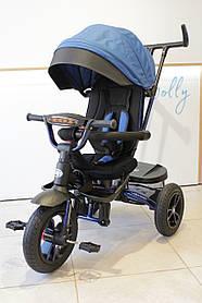 Триколісний велосипед Turbotrike М 4058 Сірий Синій