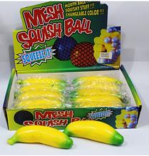 ОПТ!! Антистрес іграшка Банан з борошном 12 шт в уп.