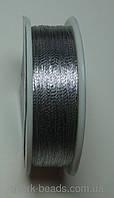 Люрекс Аллюр металлизированная нить круглая 03. Цвет серебро