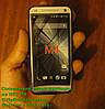 HTC_One_Mini_M4, голубой силиконовый чехол