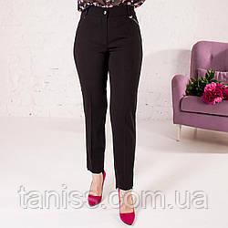 """Жіночі укорочені брюки """"Пекла"""",тканькостюмная , р-р 44\46, 48\50, 52\54, 56\58 ,чорний"""