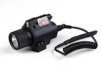 Подствольный светодиодный фонарь с красным лазерным целеуказателем М6, фото 1
