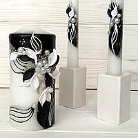 Свадебные свечи Семейный очаг  Черно белые