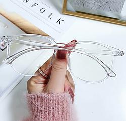 Очки для компьютера женские, прозрачные с чехлом в подарок