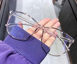Очки для работы за компьютером. Очки для стиля женские с чехлом