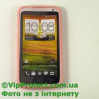 HTC_G23, розовый силиконовый чехол One X