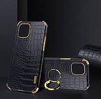 Чохол для Apple Iphone 7 Plus з тисненням під шкіру крокодила і магнітним утримувачем