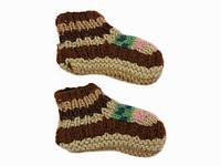 Детские носки-тапочки из шерсти Ручная вязка в ассортименте