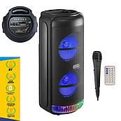 Портативна Бездротова Bluetooth колонка+світломузика, мікрофон,караоке RX-8228
