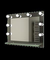 Зеркало с подсветкой 800х600 Ф520 с полкой