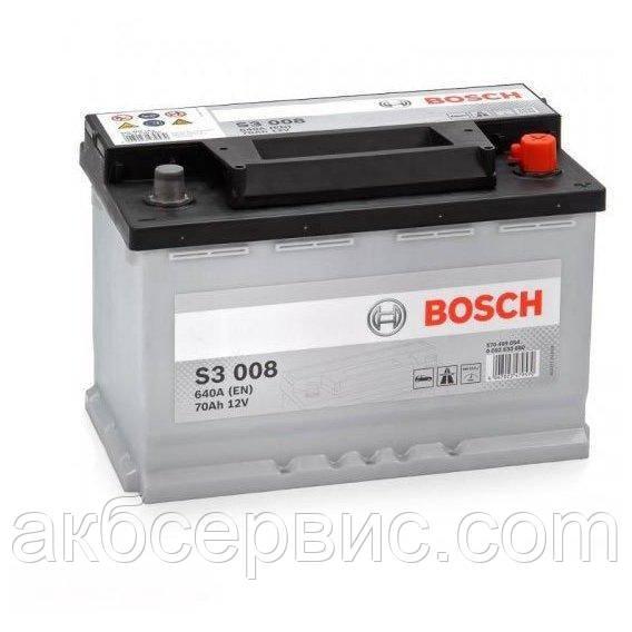 Аккумулятор автомобильный Bosch 6СТ-70 S3 (S30 080)