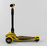 Самокат трехколесный S-4788 Best Scooter, MAXI, складной алюминиевый руль, 3 колеса PU со светом, d=12 см, фото 2