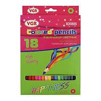Олівці 18 кольорів Happy Kids VGR