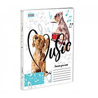 Зошит для нот А5 12 арк скоба MUSIC ANIMALS асорті 1Вересня (25)
