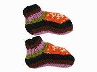 Шерстяные носки-тапочки Ручная вязка в ассортименте