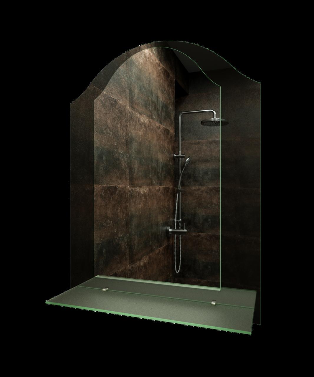 Зеркало для ванной комнаты 600х800 Ф528 с полкой