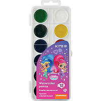 Фарби акварельні 12 кольорів Shimmer & Shine, KITE