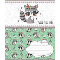 Зошит 12 клітинка Wild and free 1Вересня (25/500)
