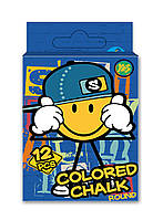 Крейда кольорова квадратна 12 шт Smiley World, Yes