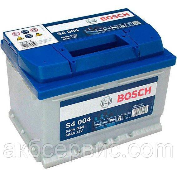 Акумулятор автомобільний Bosch 6СТ-60 S4 Silver (S40 040)