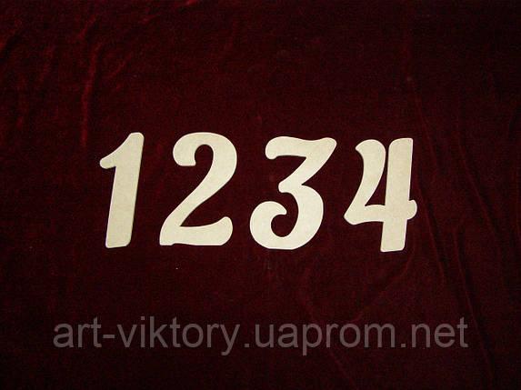 Цифры (высота 15 см), декор, фото 2