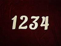 Цифры (высота 15 см), декор