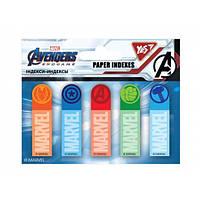 """Індекси паперові """"Marvel.Avengers"""" 50х15мм, 100 шт (5x20) Yes"""
