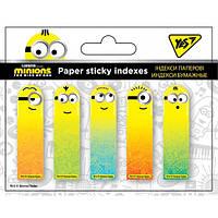 "Індекси паперові ""Minions"" 50х15мм, 100 шт (5x20) Yes"