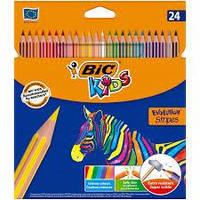 Олівці 24 кольорів Evolution stripes, BIC