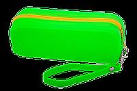 Пенал силіконовий МОНОХРОМ, 18х7х5 см, салатовий Zibi
