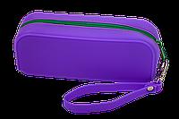 Пенал силіконовий МОНОХРОМ, 18х7х5 см, фіолетовий Zibi