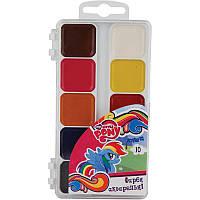 Фарби акварельні 10 кольорів Little Pony, KITE