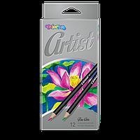 Олівці 12 кольорів Artist, Colorino