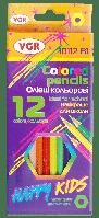 Олівці 12 кольорів Happykids VGR